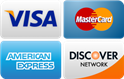 We accept Visa, Mastercard, American Express and Discover Card